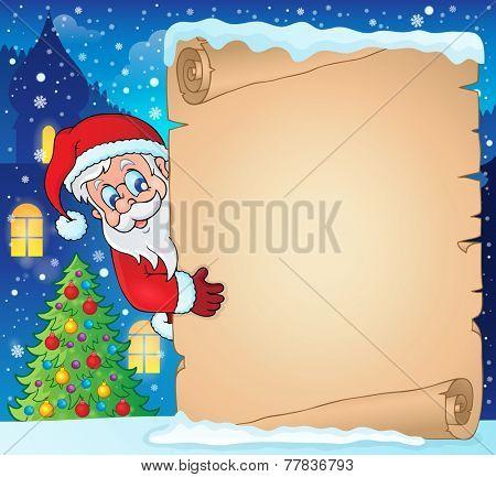 Winter parchment Christmas theme 1 - eps10 vector illustration.