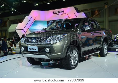 Nonthaburi - December 06: Mitsubjshi Triton Pickup On Display At Thailand International Motor Expo 2