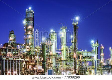 Chemical plants in Yokkaichi, Japan.
