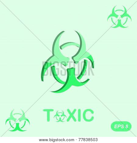 Toxic Sign On Green Background
