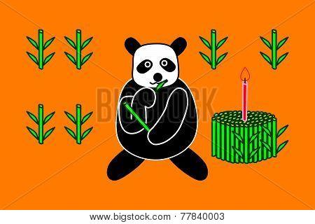Birthday cake of panda