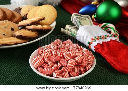 Christmas Treats And A Stocking Full Of Money