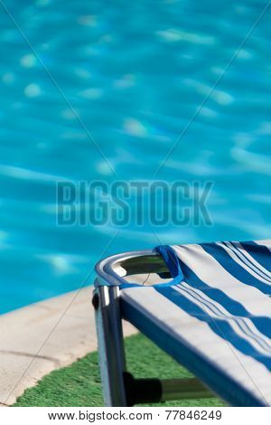 Part Of The Pool With Blue Water