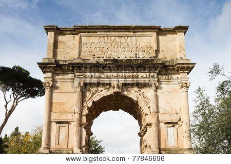 Arch Of Titus At The Forum Romanum