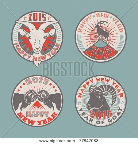 Goat badges color