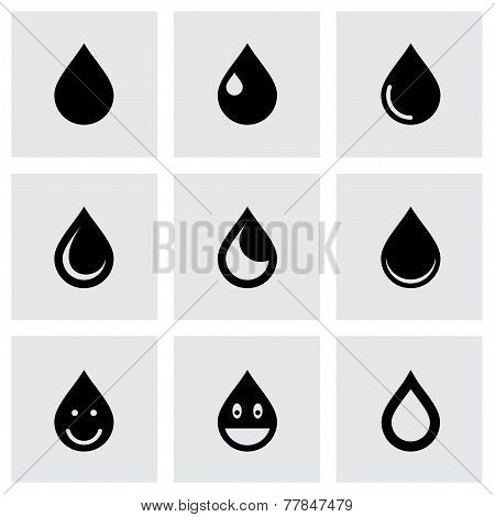 Vector drop icon set