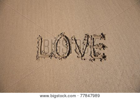 Love Text In Earth