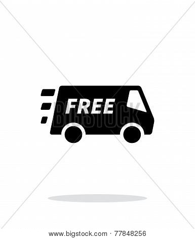 Free delivery service icon on white background.