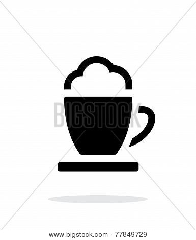 Espresso cup simple icon on white background.