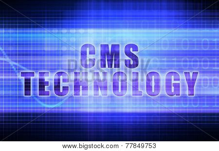CMS Technology on a Tech Business Chart Art
