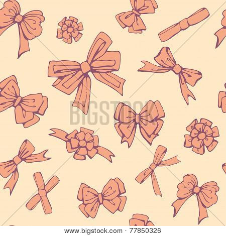 Candy Cookies Bows Seamless Pattern