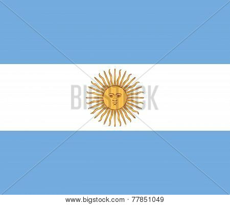Clean Flag Of Argentina, Vector