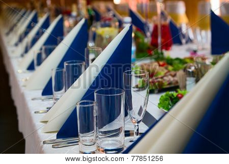 Table Prepared For Wedding Banquet
