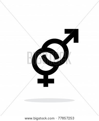 Hetero icon on white background.