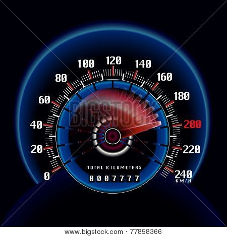Roaring Fast Dashboard Speedometer Clock