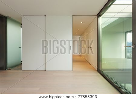 Modern architecture, nice apartment, wide empty room