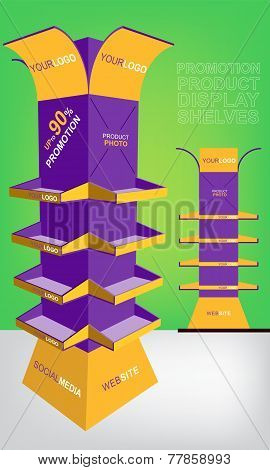 Promotion Product Display Shelves