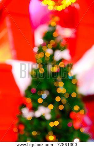 De focused Christmas Lights Background