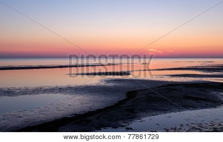 Sunset on the beach, Jurmala, Latvia, Baltic sea