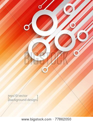eps10 vector geometric diagonal lines with overlapping rings frame business background