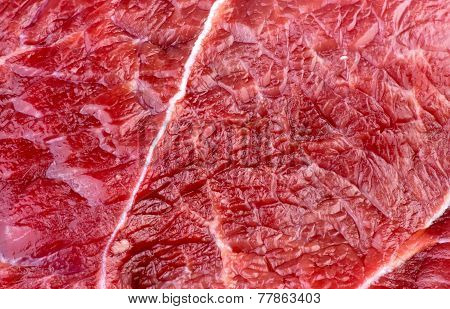 Closeup Macro Background Texture Of Red Beef Lamb Meat