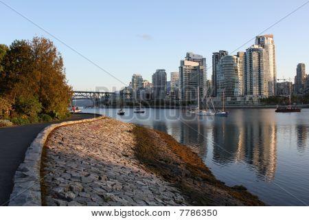 Vancouver's False Creek Seawall View