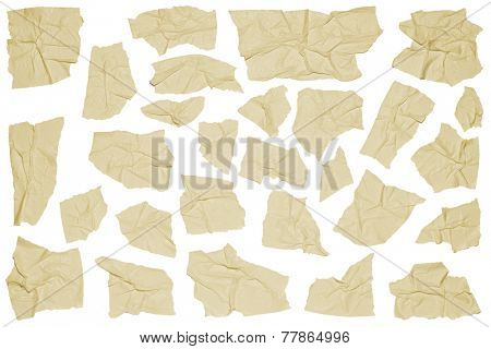 Crumpled pieces of masking tape