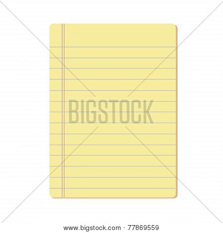Blank Notepad Vector.eps