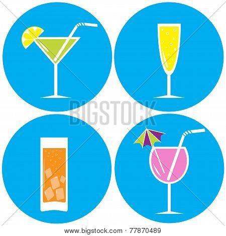 Set Of Drinks, Cocktails