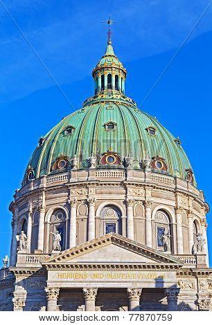 The Dome of Frederik's Church in Copenhagen.