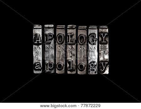 Apology Concept