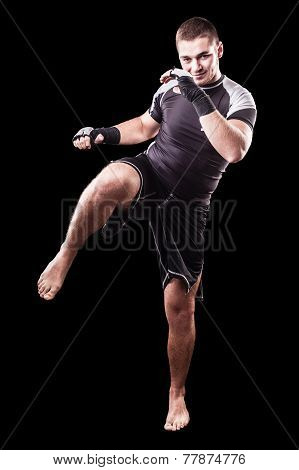 Kickboxer On Black