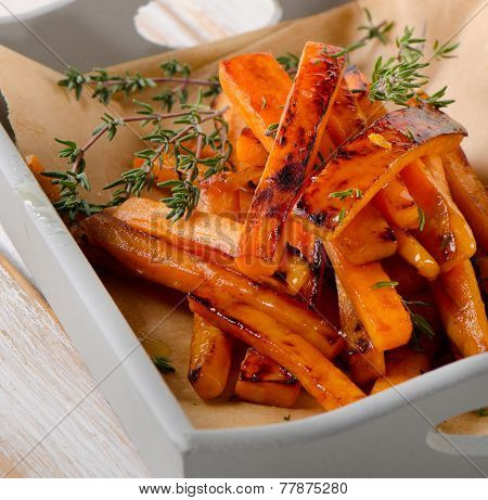 Sweet Potato Fries With  Herbs