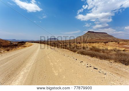 Panorama Of Fantrastic Namibia Landscape