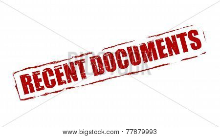 Recent Documents