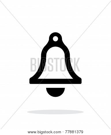 Bell simple icon on white background.