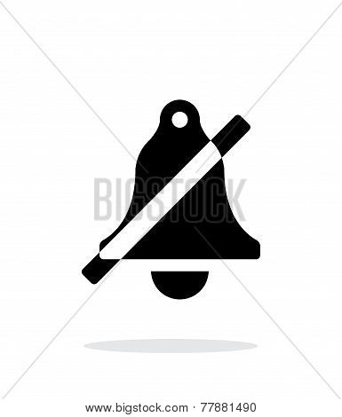 No bell simple icon on white background.