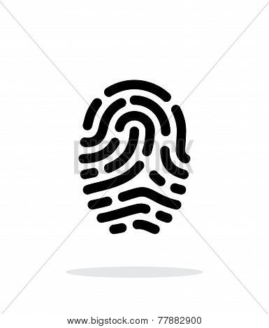 Fingerprint scanner icon on white background.