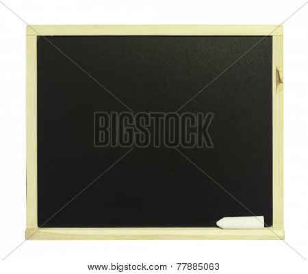 Chalkboard  isolated on the white background.