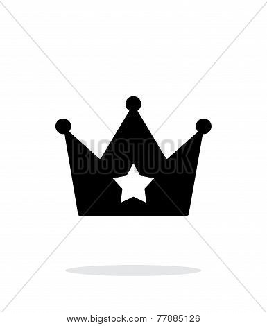Crown simple icon on white background.