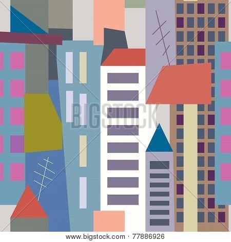 Big city seamless pattern