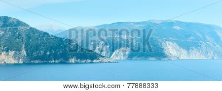 Summer Sea Panorama (greece, Kefalonia).