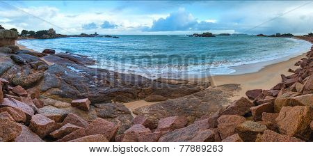 Tregastel Coast Panorama (brittany, France)