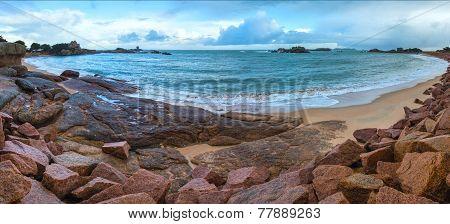 Tregastel Coast Panorama (brittany, France)