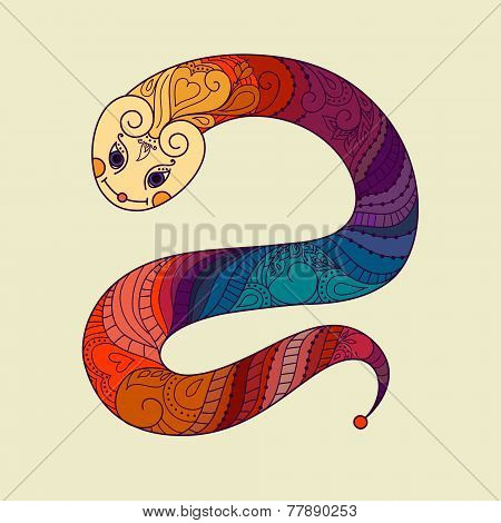 Happy new year. 2013. Snake year. Vector. Chinese horoscope. Sym