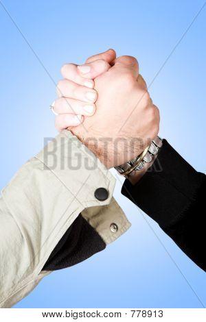 informal handshake
