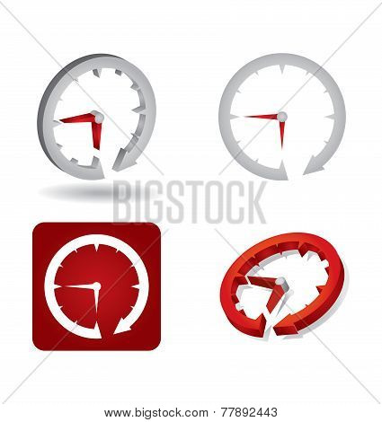 Time Concept, Abstract Clock Sign