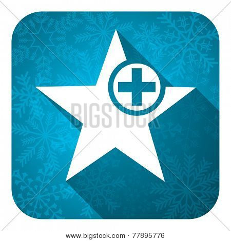 star flat icon, christmas button, add favourite sign