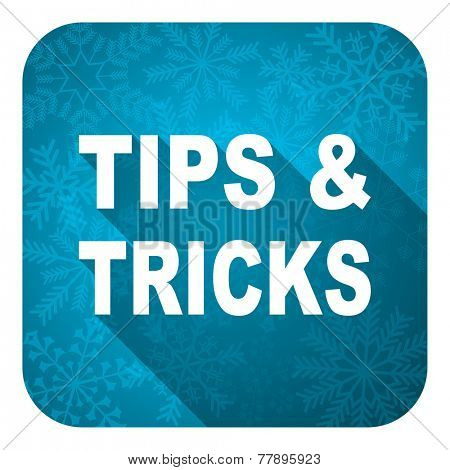 tips tricks flat icon, christmas button