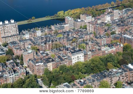 View of the Back Bay in Boston.